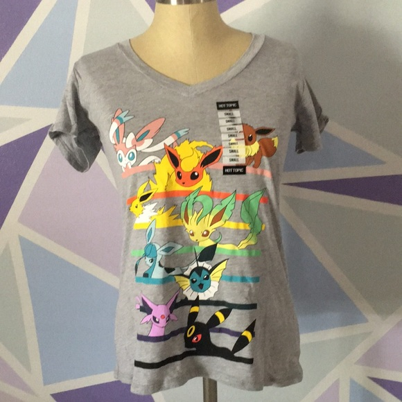 5043890f Hot Topic Tops | Pokemon Nintendo Eevee Evolutions Shirt | Poshmark